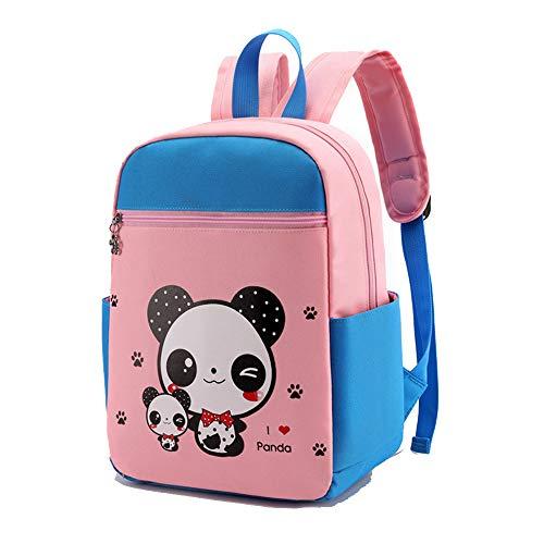 Mochila de nailon, mochila informal, mochila de libro para niños, mochila escolar para bebés y niños, mochila de lona para jardín de infantes, monedero de dibujos animados-redpanda