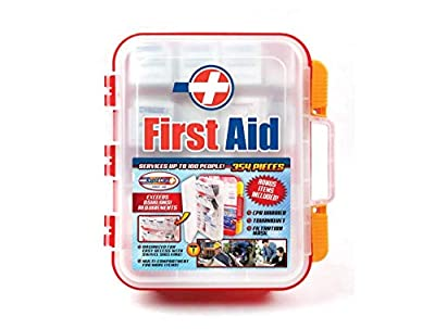 Rapid Care First Aid RC-BLMD-354 354 Piece ANSI/OSHA Compliant Emergency First Aid Kit, Wall Mountable, Multi Compartment with Easy Access Tilt Trays from Rapid Care First Aid