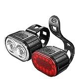 TMD Luz Delantera para Bicicleta de montaña, Linterna, luz Trasera para Bicicleta, luz Trasera para luz Nocturna, Accesorios para Equipos de conducción Nocturna