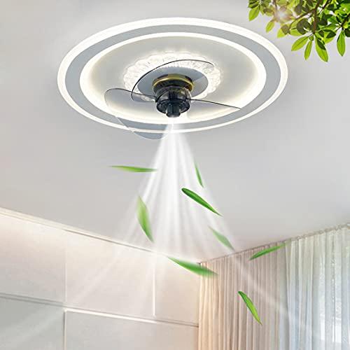 HMAKGG 80W LED Ventilador De Techo con Iluminación Ventilador Plafon Silencioso Regulable con Mando a Distancia para Salon Dormitorio Infantil Comedor, Ø50cm
