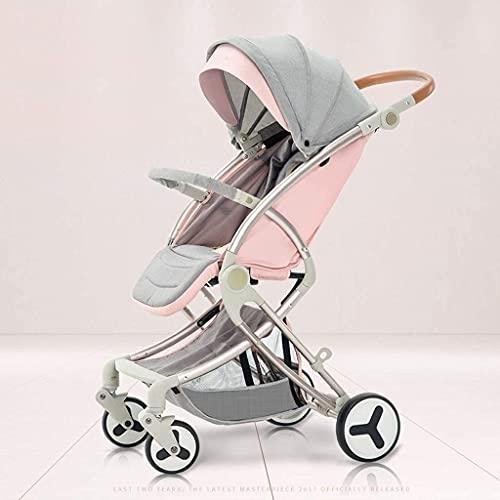 VIVOCC Cochecito Ligero, cochecitos para niña, Cochecito de bebé para bebés para niños pequeños, cochecitos compactos, cochecitos. (Color : Pink)