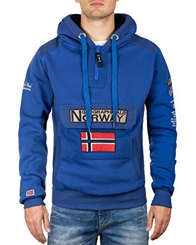 Geographical Norway Sudadera con capucha para hombre azul M