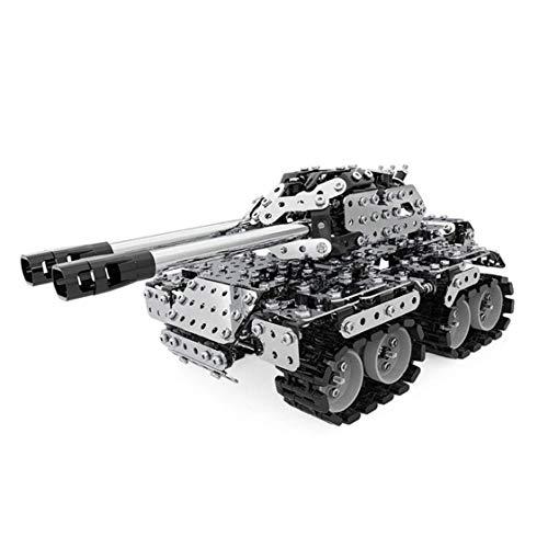 MYYINGELE Niños Bloques De Construcción De Metal, 3D Full Metal Tanque Acero Inoxidable Bricolaje Montado Desmontable Modelo del Rompecabezas Adornos