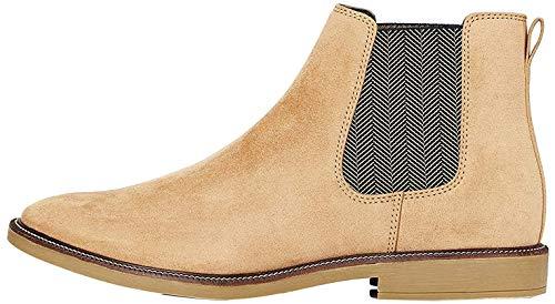 find. Marsh Herren Chelsea Boots Stiefel, Braun (Biscuit Suede Look), 45 EU