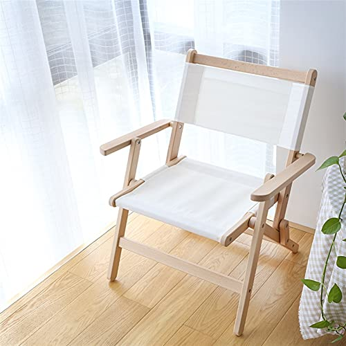 Hanghaijia Silla plegable de madera maciza para exteriores, portátil, diseño cruzado de mariposa, silla de picnic, playa, pesca, ocio (color: blanco, tamaño: pequeño)