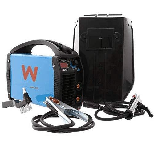 Soldadora Awelco 160 A. Mikro 184 con kit de accesorios y maletín Inverter preparado para alimentar con generador