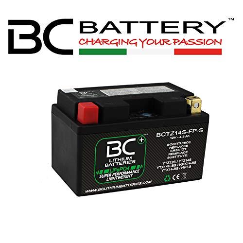BC Lithium Batteries BCTZ14S-FP-S Lithium-Motorradbatterie LiFePO4, 0,9 kg, 12V, gleichwertig HJTZ14S-FP-S / YTZ12S / YTZ14S / YTX14H-BS / KMX14-BS / YTX14-BS / HVT-8