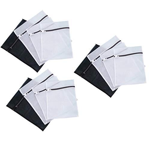 TOPBATHY 12 st tvättpåse fin nät tvätt nät väska kläder förvaring påse plagg skyddande väska för kvinnor flicka