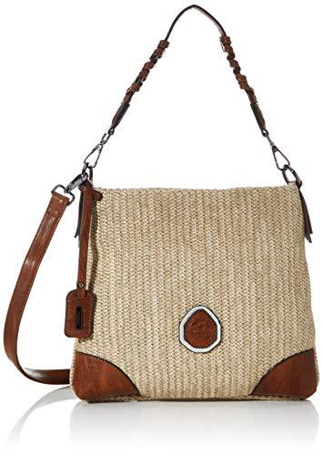 Rieker Damen Handtasche H1315, Beige (Porzellan/nuss-antik), 260x30x270 cm