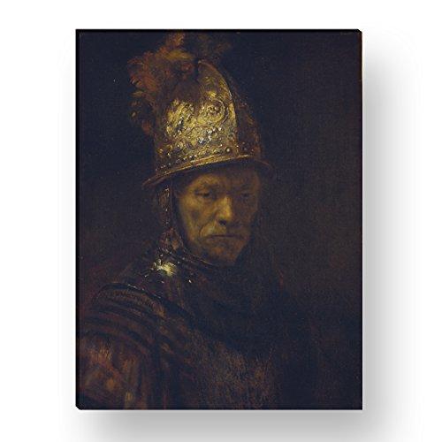 WANDKINGS Leinwandbild Der Mann mit dem Goldhelm von Rembrandt / 30 x 40 cm/auf Keilrahmen