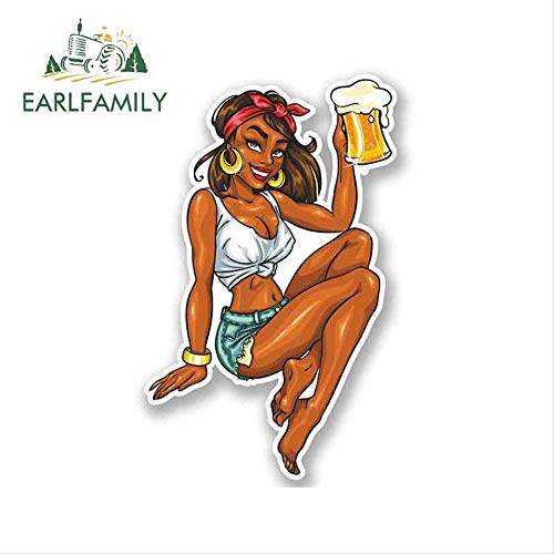 JYIP 13cm x 8.6cm Sexy Pin Up Girl Vinyl Car Sticker Decal iPad Laptop Car Bike Navy Bar Funny Car Styling