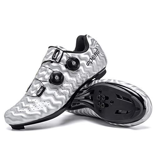 [G&I Brothers] ビンディングシューズ メンズ サイクルシューズ ロードバイクシューズ サイクリング 自転車 カジュアル ロード シュ−ズ バイク 靴 初心者(Y 43)