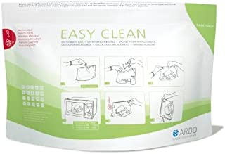 Ardo Easy Clean Microwave Bags - Fast and reliable cleaning of accessories- Safe and Hygienic - Innovative Safe Grip - Eas...