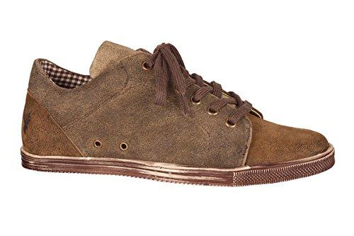 Spieth & Wensky Trachten Herren Sneaker - IKARUS - braun, Größe 44
