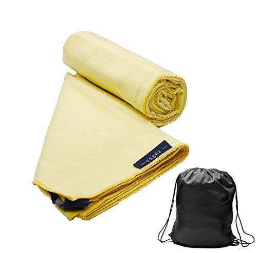 Toallas amarillas Deportivas con bolsa