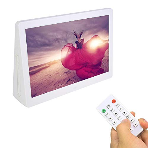Digitale fotolijst, 15,4 inch elektronische fotolijst 1280 * 800 (16: 9), digitale HD-fotolijst met afstandsbediening Wifi klok / kalender / JPG / JPEG / AV / MPG / MP4. (EU wit)
