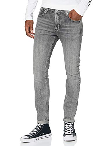 Calvin Klein Super Skinny Pantalones, Bb001/Grey, 31W / 32L para Hombre