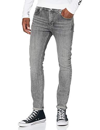 Calvin Klein Super Skinny Jeans, Grigio, 31W / 32L Uomo