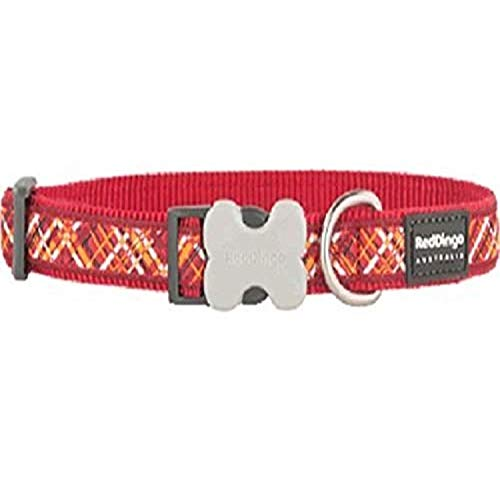 Red Dingo l6-fn-re-12flanno Hundehalsband, klein, rot