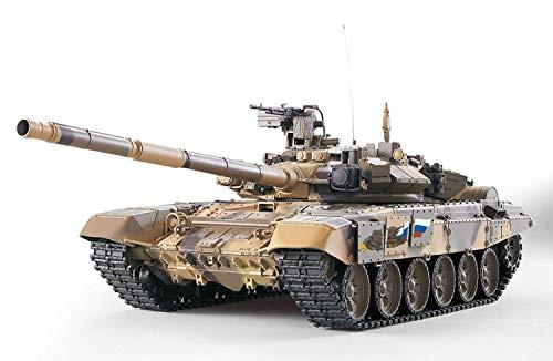 Wynkl 2,4Ghz Funk Racing Tank-Hochgeschwindigkeits-RC Panzer Russland T90 Heng Long 01.16 Mit Rauch & Sound and Steel Getriebe Armee Panzerwagen for Erwachsene Kinder