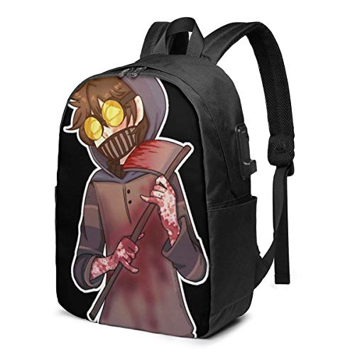 Ticci Toby USB School Backpack Large Capacity Canvas Satchel Casual Travel Daypack for Adult Teen Women Men 17in