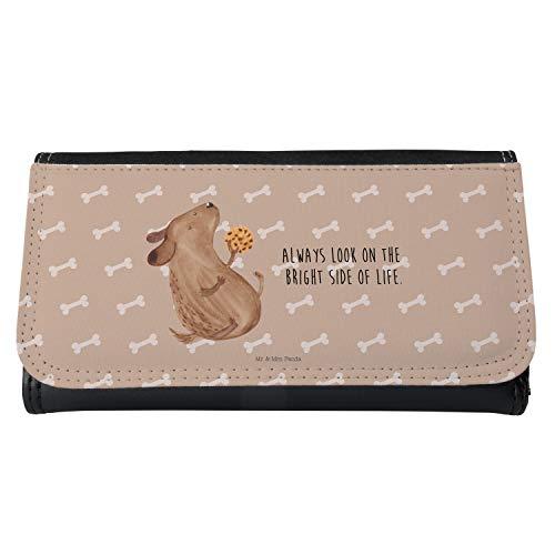 Mr. & Mrs. Panda Portemonnaies, XXL, Damen Portemonnaie Hund Keks mit Spruch - Farbe Hundeglück