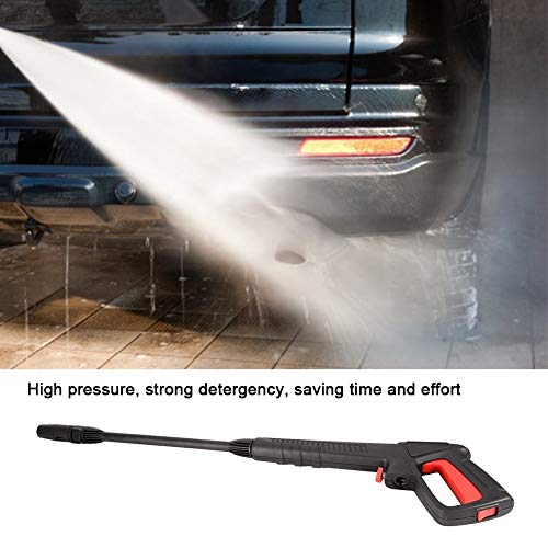 Agua a presión, pistola de agua de alimentación, 16Mpa Lavadora de alta presión con clip del aerosol de chorro de agua en forma for Bosch AQT Negro & Decker