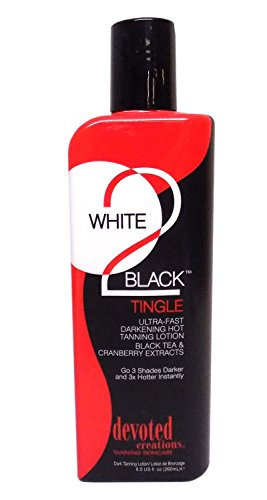 Devoted Creations White 2 Black, Tingle, Ultra Fast, Darkening Lotion 8.5 oz.