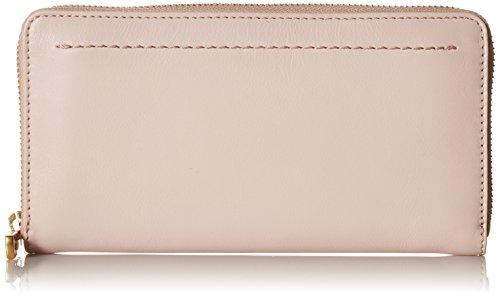 Cole Haan Zoe Continental Zip Around Leather Wallet, peach blush