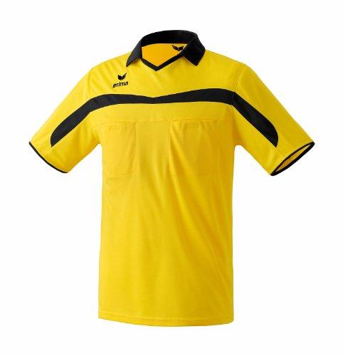 erima Schiedsrichtertrikot Valencia - Camiseta, Color Negro/Amarillo, Talla XL