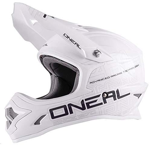 O'NEAL 3 Series Motocross Enduro MTB Helm Flat weiß/schwarz 2018 Oneal: Größe: S (55-56cm)