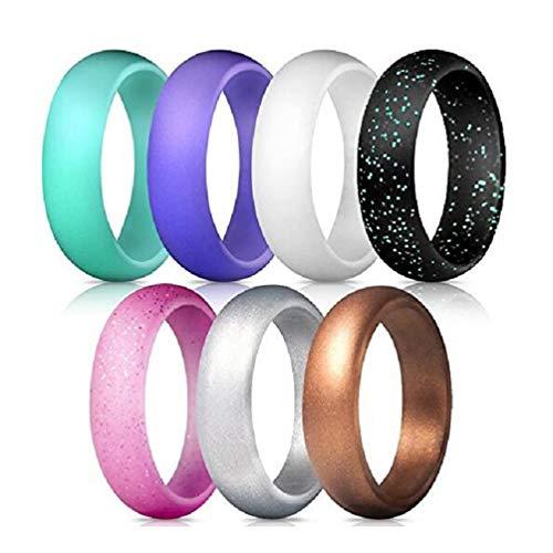 Vrouwen siliconen trouwringen 7 hybride ontwerpen met betaalbare siliconen elastieken