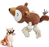 Jouet en Peluche pour Chiens, Jouet grinçant Que Les Chiots Peuvent mâcher lorsqu'ils s'ennuient, avec Laisse pour interagir avec Votre Animal afin d'éviter l'anxiété. (Écureuil)