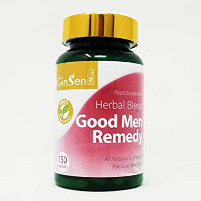 GinSen Male Fertility Tablets (150 Caps) Good Men Helps with Male Fertility, Sperm Motility, Sperm Count, Fatigue, Frequent Urination, Low Back Pain, Vegan, Vegetarian, Natural, Made in UK