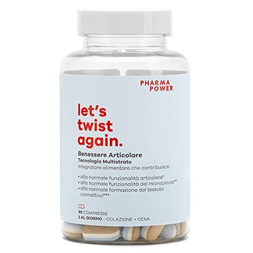 Let's Twist Again STOP DOLORE PharmaPower, 90 cpr a Rilascio Modificato Antifiammatorio Naturale per Articolazioni e Muscoli.