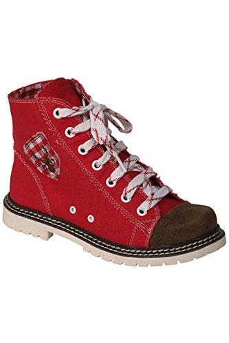 Spieth & Wensky Damen Sneaker Jacky rot/braun rustikal, rot/braun, 39