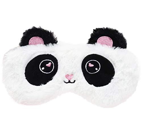 Ulife Mall Süße Panda Schlafmaske Weiche Plüsch Augenbinde, Lustige emoticons Schlafmaske Augenmaske Augenabdeckung für Mädchen Jungen Frauen Männer Kinder Zuhause Schlafen Reisen