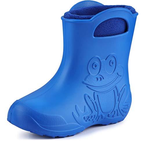 Ladeheid EVA Kinderen Rubberlaarzen Regenschoenen LA-CA-03(Blauw/zwaar blauw, 22/23 EU)