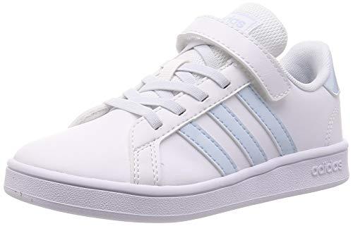 adidas Grand Court C, Zapatillas de Tenis Unisex niños, FTWR White/Sky Tint/FTWR White, 30 EU