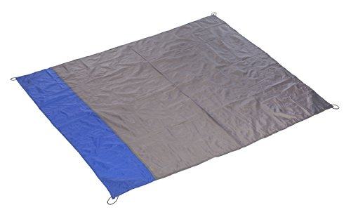 Idena 38194 - Outdoor Decke, ca. 140 x 170 cm für 2 bis 4 Personen, passt in die Hosentasche, wasserfest, leicht, ideal für Camping, Picknick, Festival, Strand, auf Reisen, als Zudecke oder Regencape