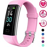 Vabogu Fitness Tracker HR, with Blood Pressure Heart Rate Monitor, Pedometer, Sleep Monitor, Calorie Counter, Vibrating Alarm, Clock IP68 Waterproof for Women Men (Purple)…
