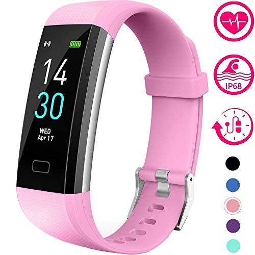 Best blood pressure watch - Vabogu Fitness Tracker HR, with Blood Pressure Heart Rate Monitor, Pedometer, Sleep Monitor, Calorie Counter, Vibrating Alarm, Clock IP68 Waterproof for Women Men (Purple)…