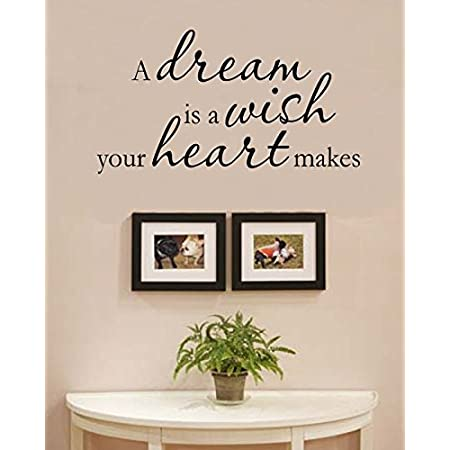 Dream Follow Your Heart Wherever it Takes You Wall Decal Vinyl Art Quote IN86