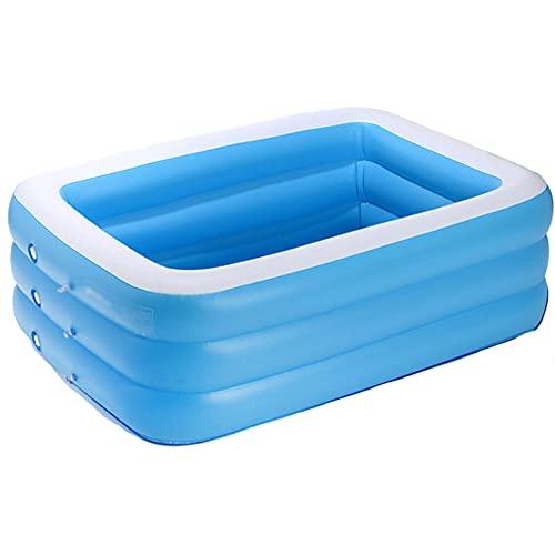 MQC Piscina Inflable niños, Piscina baño de PVC Azul portátil Engrosada, Adecuada para Piscina Infantil de jardín al Aire Libre en el Patio Familiar de los niños,Azul,110 * 90 * 50CM