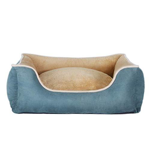 Zwinger Kennel, abnehmbare waschbare Four Seasons Pet Matte Large Medium Small Dog Winter warme Produkte, DREI Farben optional Haustierbett (Color : Luxury Blue, Größe : X-Large)