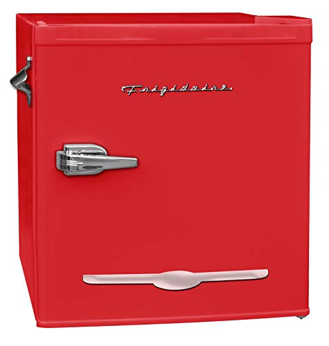 Frigidaire EFR176, 1.6 Cu Ft Retro Compact Fridge with Side Bottle Opener (Red)