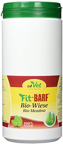 cdVet Naturprodukte Fit-BARF Bio-Wiese 700 g - Hunde - Bio-Kräuter-Kombination - Quelle für Mineralien, Vitamine und Spurenelemente - Basen-Regulation - Vitamine - Rohfütterung - BARFEN -