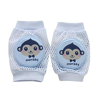 Digood Toddlers Baby Girls Boys Cartoon Safety Crawling Elbow Cushion Kneecap Pads Breathable Kneecap (Blue)