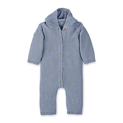 Sterntaler Unisex Baby Strick-Einteiler Baylee Schlafstrampler, Blau (Bleu 313), 3-6 Monate (Herstellergröße: 68)