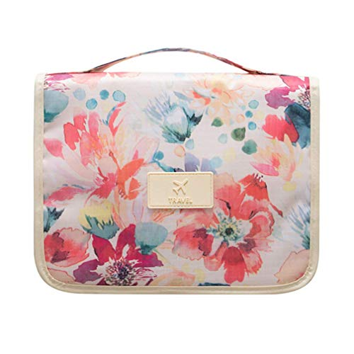 Portable Hanging Toiletry Bag/Portable Travel Organizer Cosmetic Bag for Women Makeup or Men with Hanging Hook